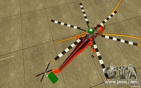 Sikorsky Air-Crane S-64E para la visión correcta GTA San Andreas