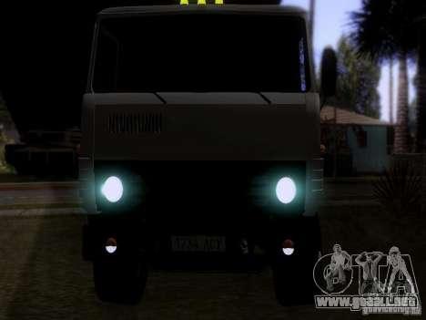 Camión KAMAZ 53212 leche para GTA San Andreas vista hacia atrás