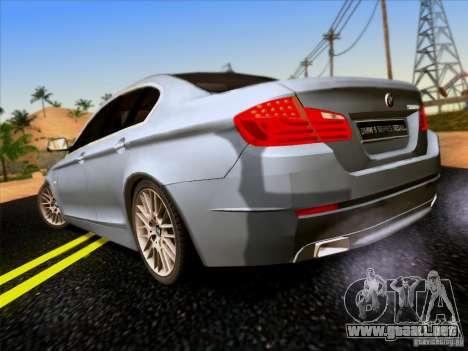 BMW 550i 2012 para la visión correcta GTA San Andreas