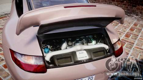 Porsche 911 (997) Turbo v1.0 para GTA 4 vista hacia atrás