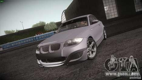 BMW 135i Coupe Road Edition para visión interna GTA San Andreas
