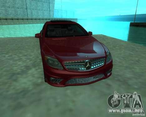 Mercedes-Benz CL65 AMG para GTA San Andreas vista posterior izquierda
