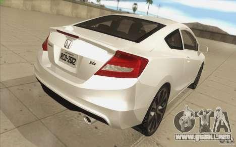 Honda Civic SI 2012 para la vista superior GTA San Andreas