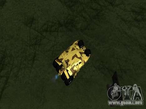 Army Tumbler v2.0 para GTA San Andreas vista hacia atrás