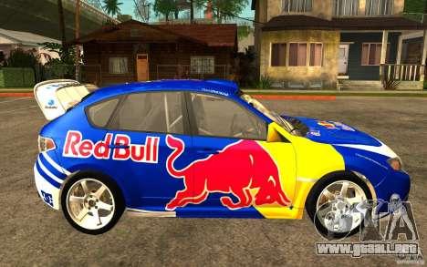 Nuevos vinilos para Subaru Impreza WRX STi para GTA San Andreas left