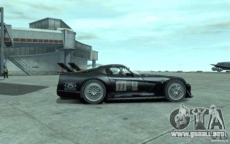 Dodge Viper Competition Coupe para GTA 4 Vista posterior izquierda