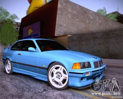 BMW M3 E36 1995 para la vista superior GTA San Andreas