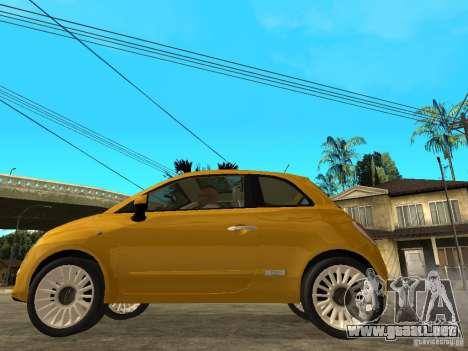 Fiat 500 C para GTA San Andreas left