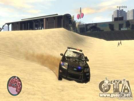 Ford Taurus Police para GTA 4 vista desde abajo
