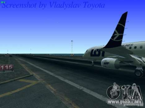 Embraer ERJ 190 LOT Polish Airlines para visión interna GTA San Andreas