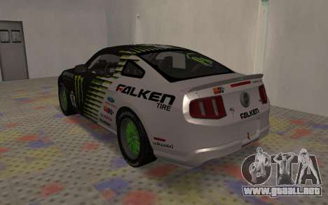 Ford Mustang GT Falken Monster 2010 v2.0 para la visión correcta GTA San Andreas