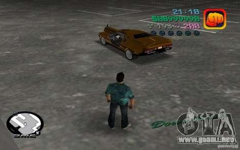 Delorean DMC-13 para GTA Vice City visión correcta