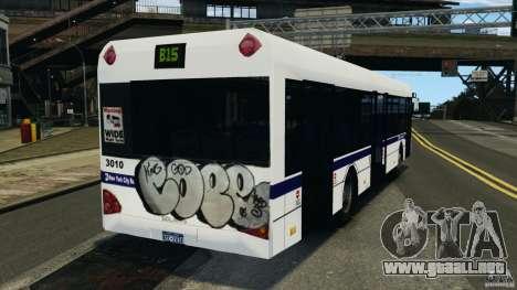 Solaris Urbino 12 MTA para GTA 4 Vista posterior izquierda