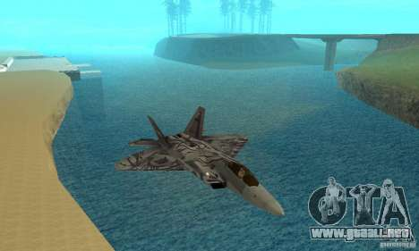 F-22 Starscream para la vista superior GTA San Andreas