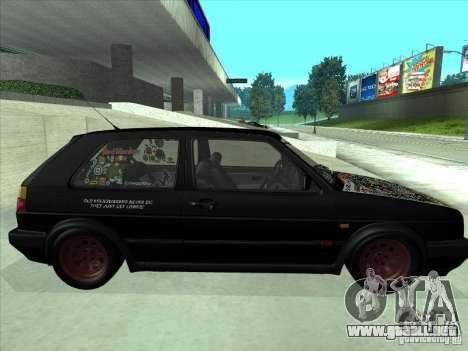 Volkswagen Golf 2 Rat Style para la visión correcta GTA San Andreas
