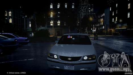 Chevrolet Impala Unmarked Police 2003 v1.0 [ELS] para GTA 4 ruedas