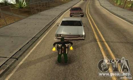 Disparo con una escopeta recortada con Jetpack para GTA San Andreas segunda pantalla