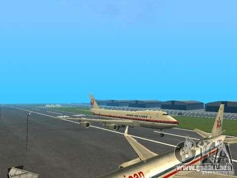 Boeing 747-100 Japan Airlines para GTA San Andreas left