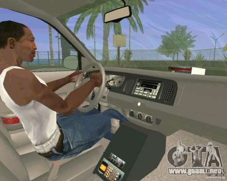 Ford Crown Victoria 2003 Taxi Cab para vista lateral GTA San Andreas