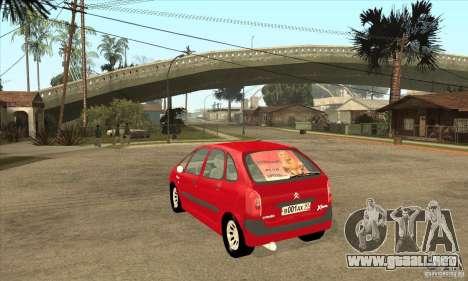Citroen Xsara Picasso para GTA San Andreas vista posterior izquierda