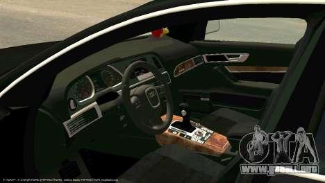 Audi A6 para GTA San Andreas vista hacia atrás