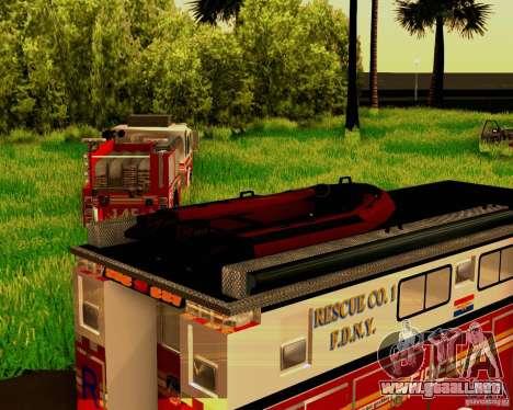 Pumper Firetruck Pierce F.D.N.Y para visión interna GTA San Andreas