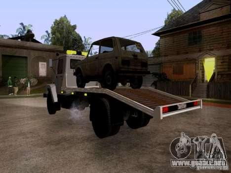 GAZ 3309 grúa para la visión correcta GTA San Andreas