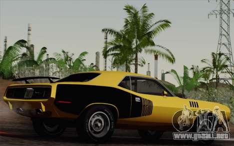 Plymouth Hemi Cuda 426 1971 para visión interna GTA San Andreas