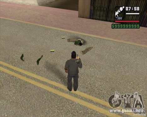 Real Ragdoll Mod Update 2011.09.15 para GTA San Andreas tercera pantalla