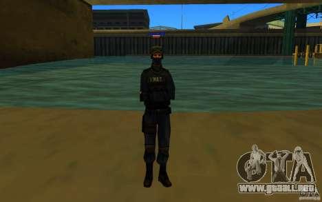 HQ skin S.W.A.T para GTA San Andreas tercera pantalla
