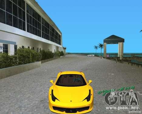 Ferrari 458 Italia para GTA Vice City left