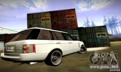 Range Rover Supercharged para vista inferior GTA San Andreas