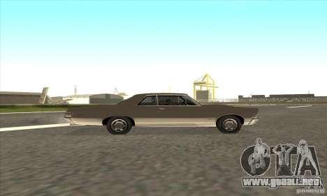 Pontiac GT-100 para visión interna GTA San Andreas