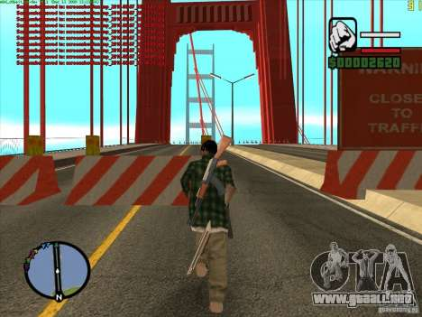 Takomskij Bridge (puente de Tacoma Narrows) para GTA San Andreas segunda pantalla