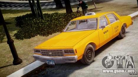 Chevrolet Impala Taxi v2.0 para GTA 4
