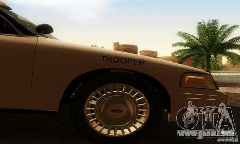 Ford Crown Victoria Virginia Police para la visión correcta GTA San Andreas