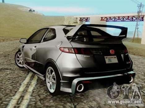 Honda Civic TypeR Mugen 2010 para GTA San Andreas left