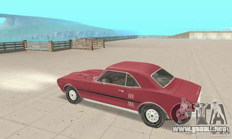 Pontiac Firebird 1968 para GTA San Andreas vista hacia atrás