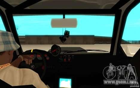 GTA IV Sultan RS FINAL para GTA San Andreas vista hacia atrás