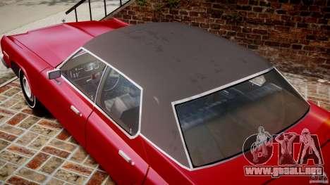 Dodge Monaco 1974 para GTA 4 vista superior
