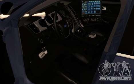 Ford Taurus Interceptor Unmarked 2013 para GTA San Andreas vista hacia atrás