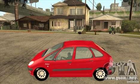 Citroen Xsara Picasso para GTA San Andreas left