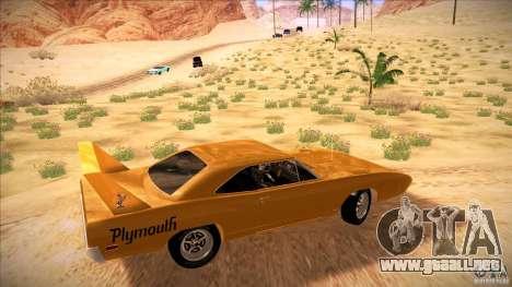 Plymouth Roadrunner Superbird Custom para GTA San Andreas left
