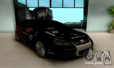 Volkswagen Golf R32 para vista lateral GTA San Andreas