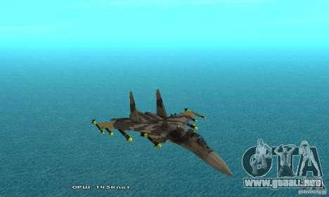 Su-37 Terminator para la vista superior GTA San Andreas