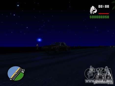 Cielo estrellado V 2.0 (un jugador) para GTA San Andreas sucesivamente de pantalla