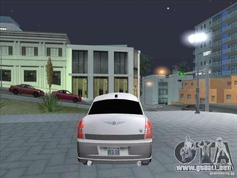 Chrysler 300C Limo para GTA San Andreas vista posterior izquierda
