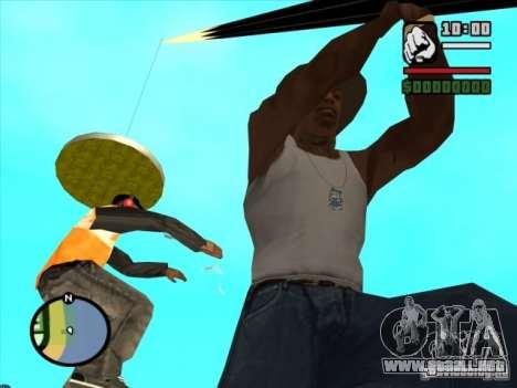 Pesca para GTA San Andreas sucesivamente de pantalla