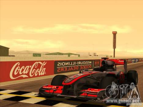 McLaren MP4-25 F1 para la vista superior GTA San Andreas