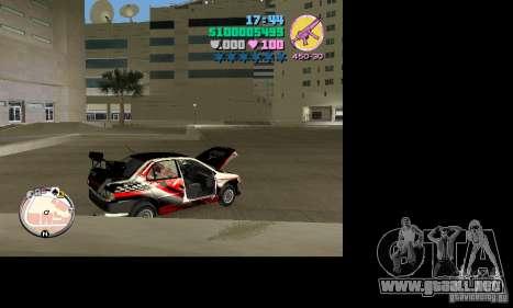 Mitsubishi Lancer Evo VIII para GTA Vice City visión correcta